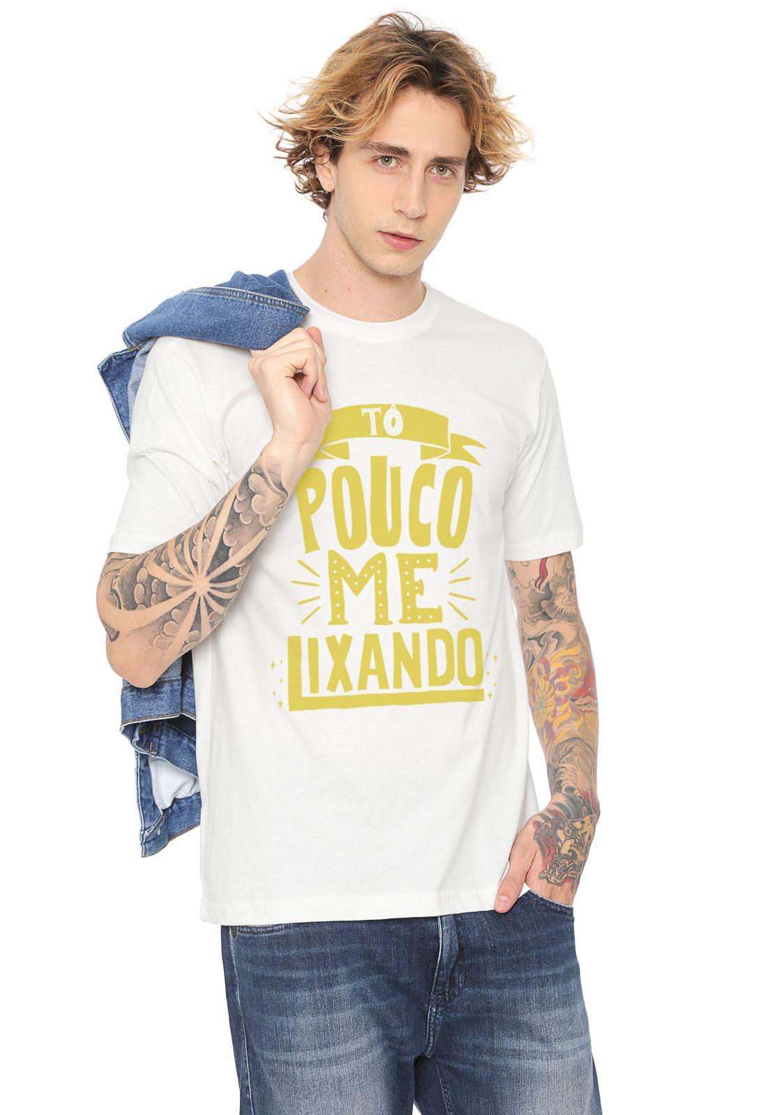 """Camiseta Estampada - """"Tô Pouco Me Lixando"""""""