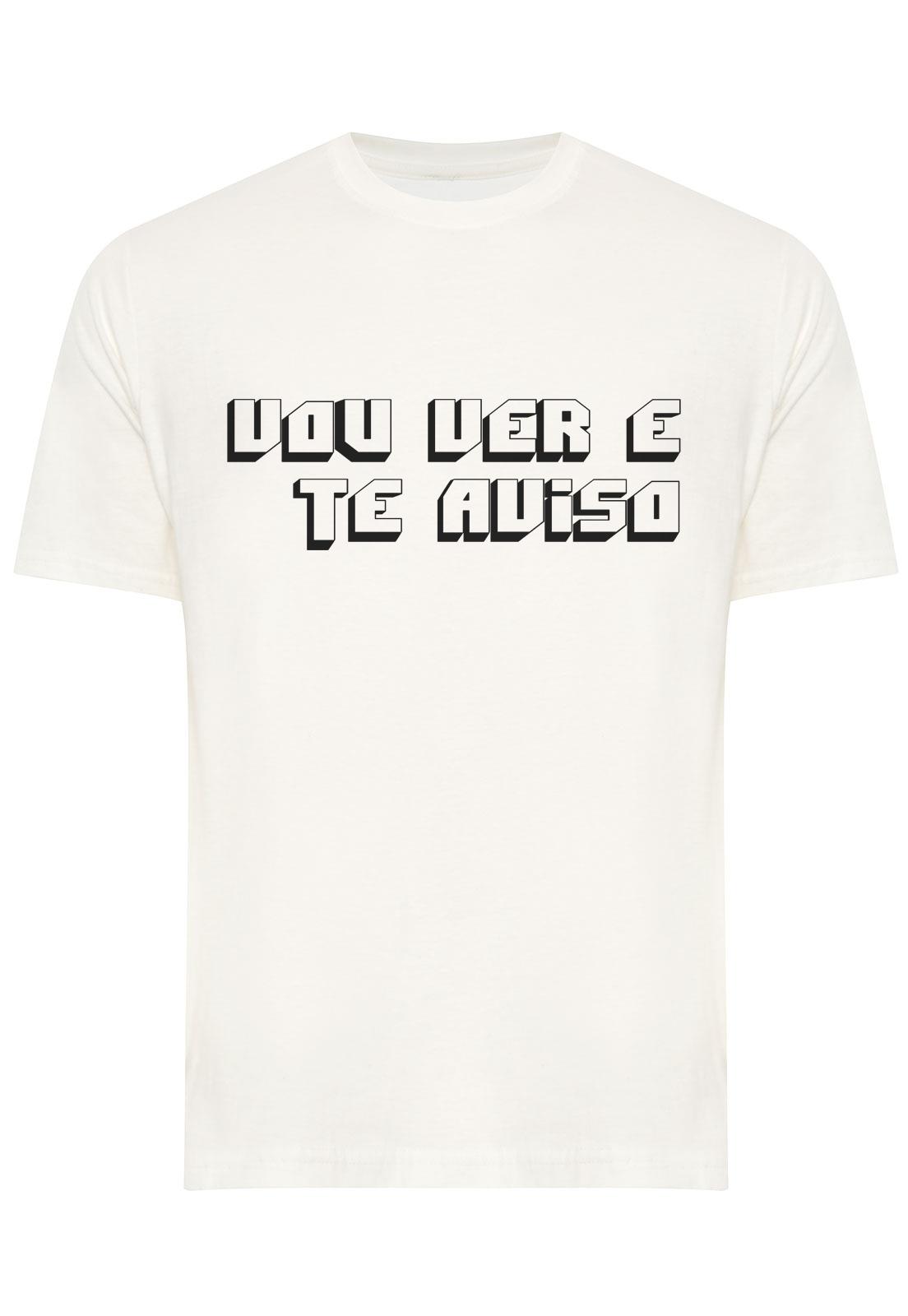Camiseta Estampada Vou Ver e Te Aviso