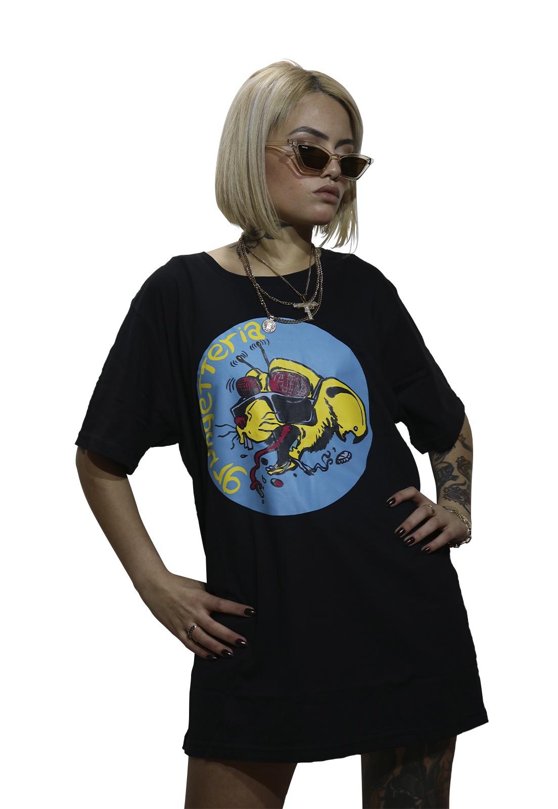 Camiseta Grungetteria Ratosca Preta