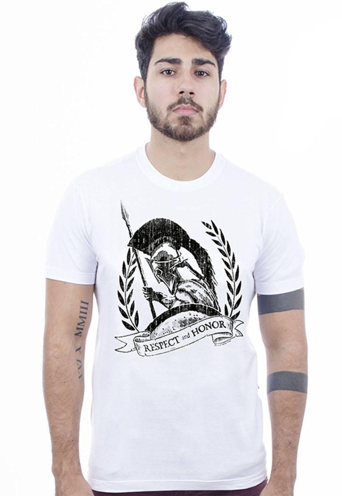 Camiseta Hardivision Esparta Manga Curta Branca