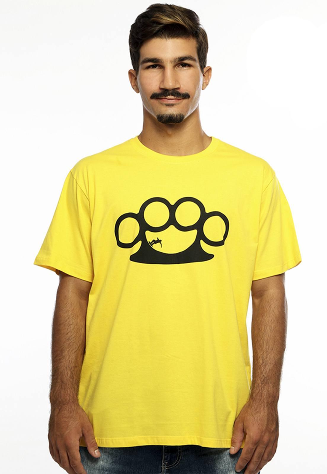 Camiseta Hardivison Half Pipe Manga Curta Amarelo