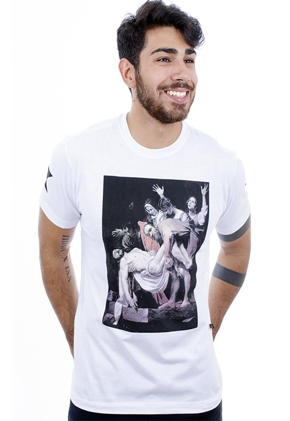 Camiseta Hardivision Faith Manga Curta Branco