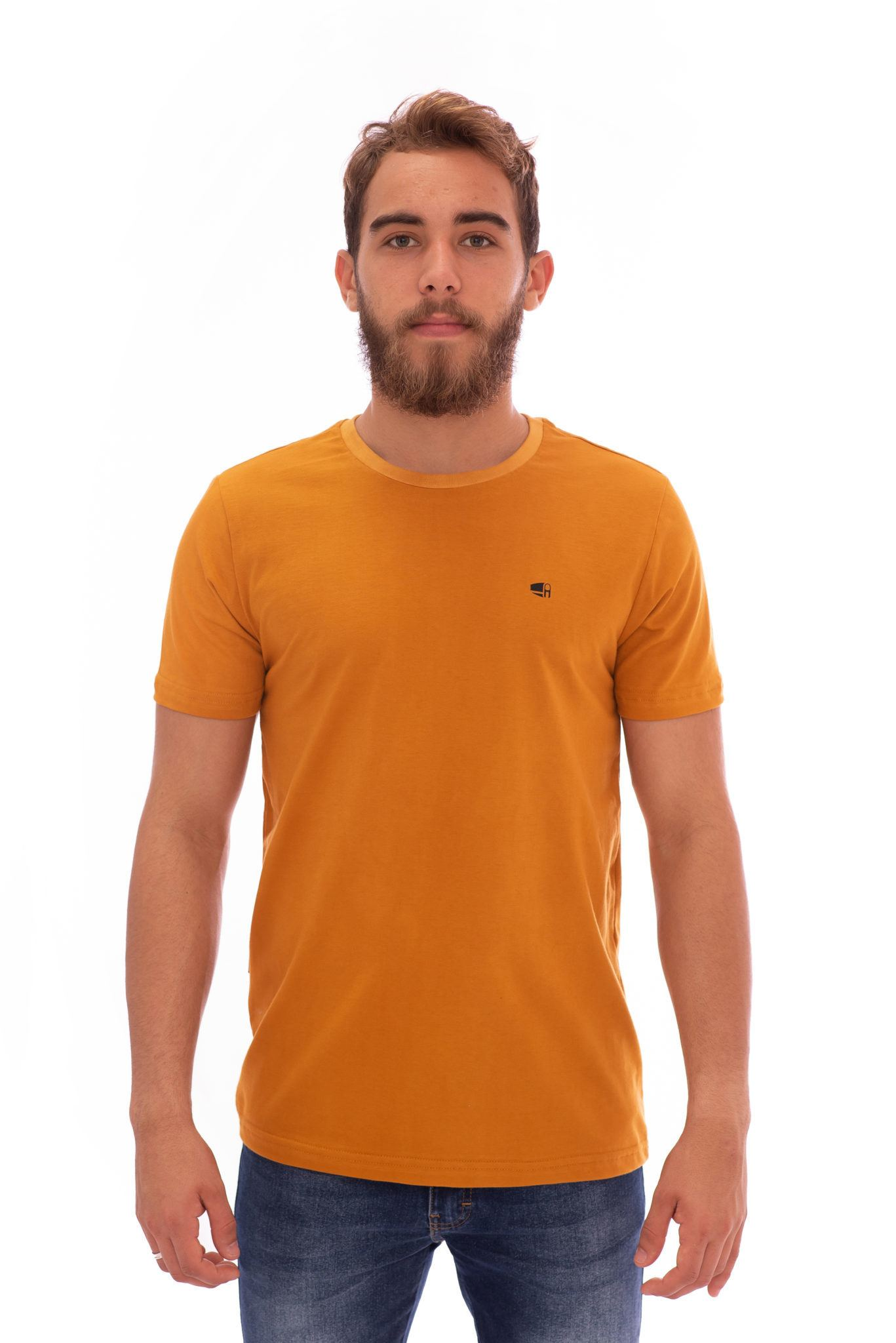 CAMISETA MASCULINA AEE SURF SLIM NEW SPLASH MOSTAZA REF. 1309