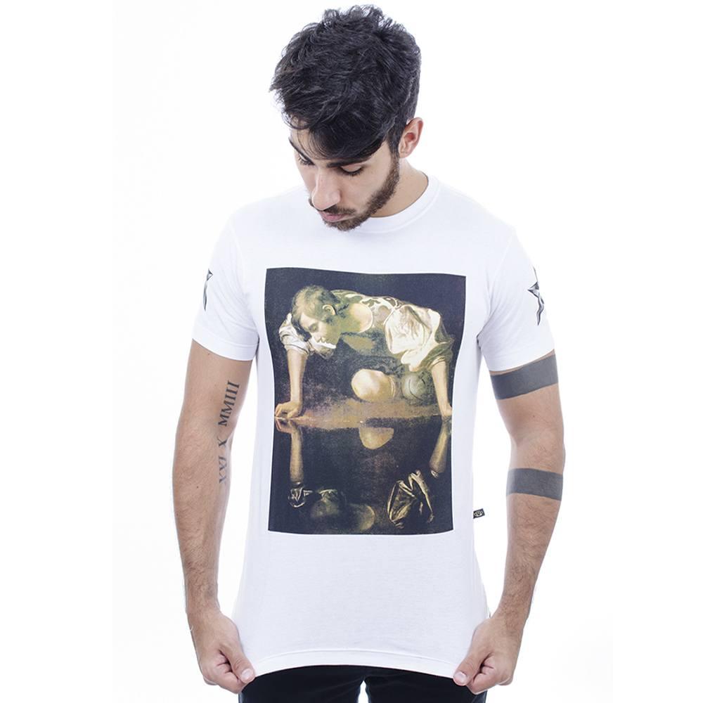 Camiseta Masculina Estampada Hardivision Reflex Branco