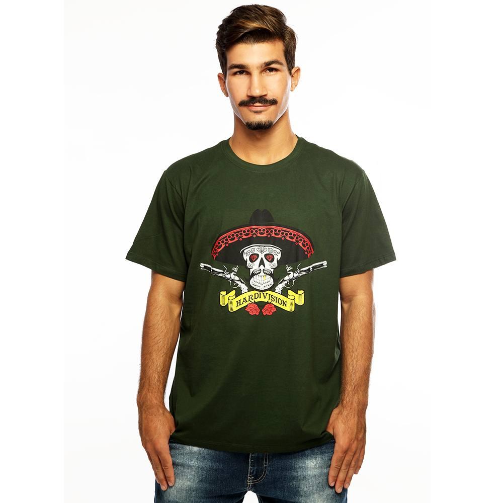 Camiseta Masculina Estampada Hombre Verde Hardivision