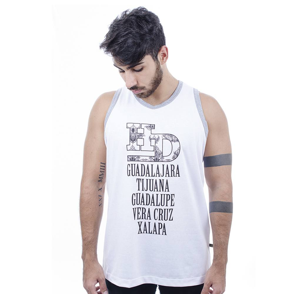 Camiseta Regata Masculina Hardivision Xalapa Branco