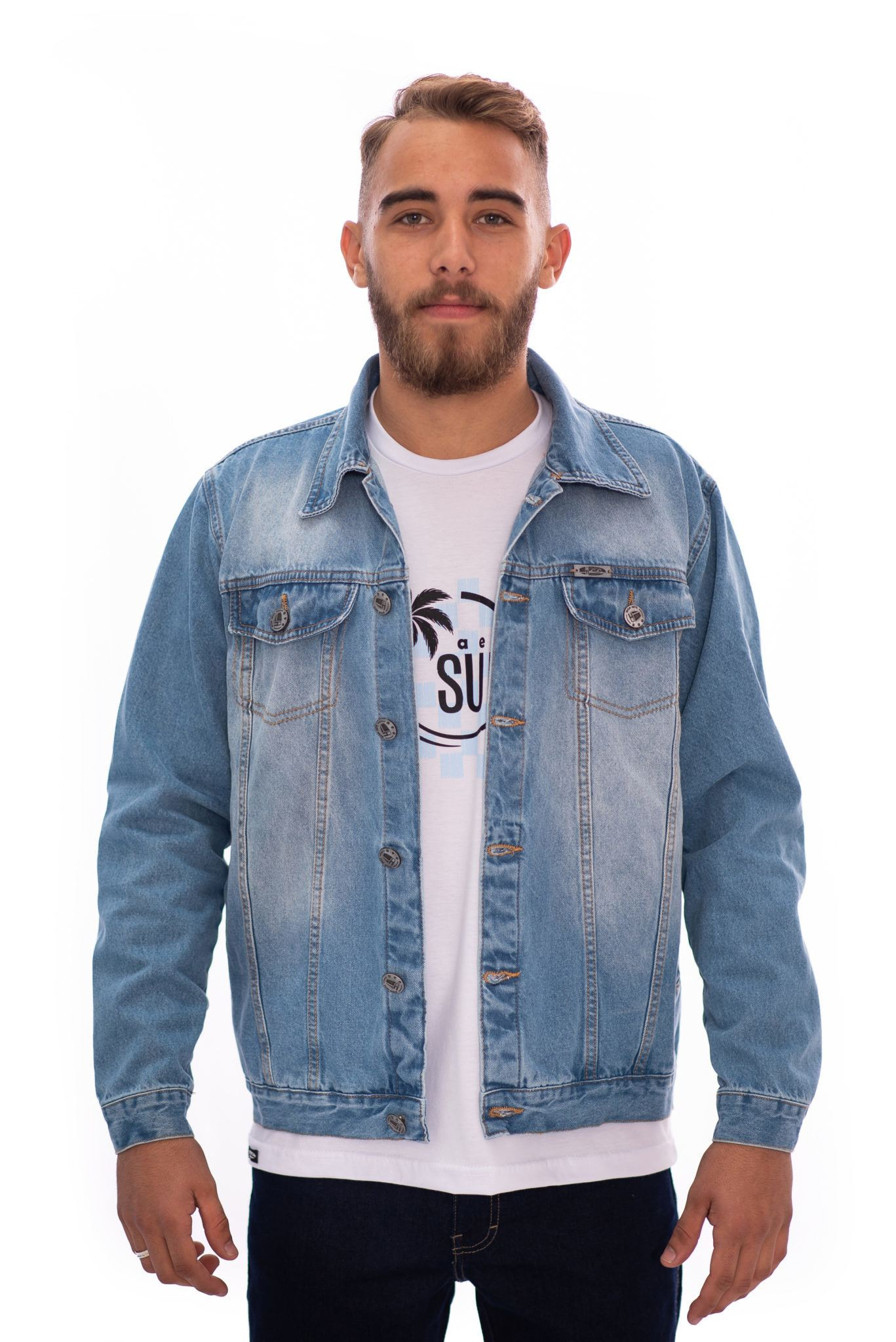 JAQUETA JEANS AEE SURF MASCULINA SKY REF. 407