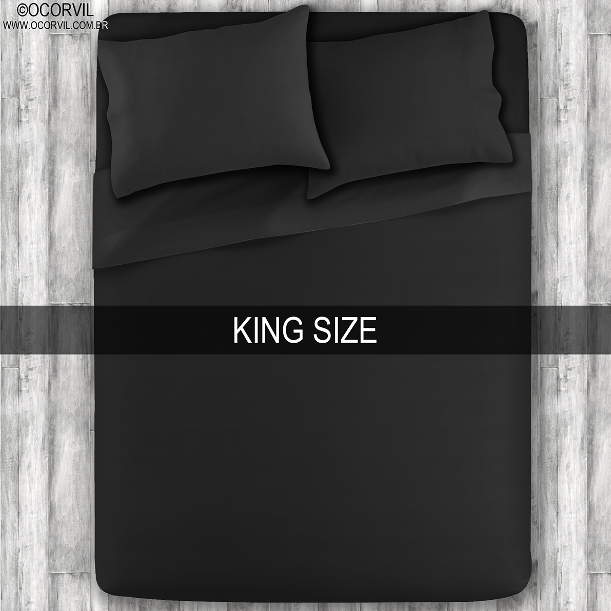 Jogo De Lençol Preto King Size