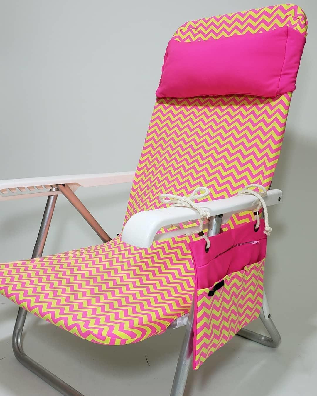 Kit Cadeira de Praia Neon