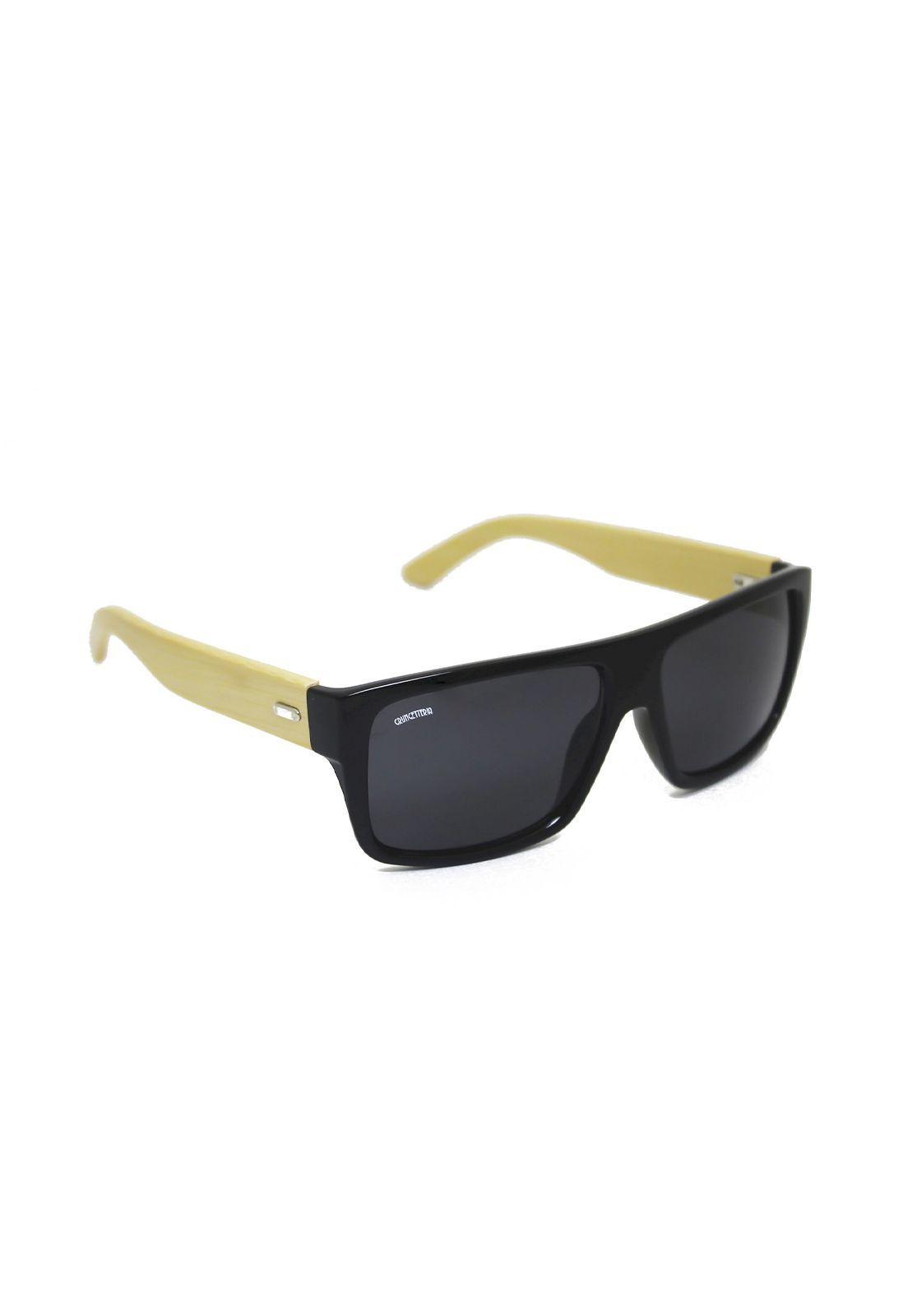 Óculos de Sol Grungetteria Bambooard Preto