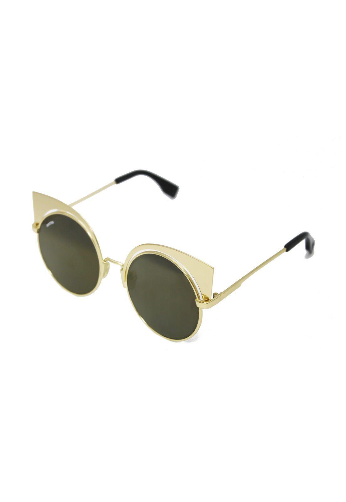 Óculos de Sol Grungetteria Cat Empire Dourado