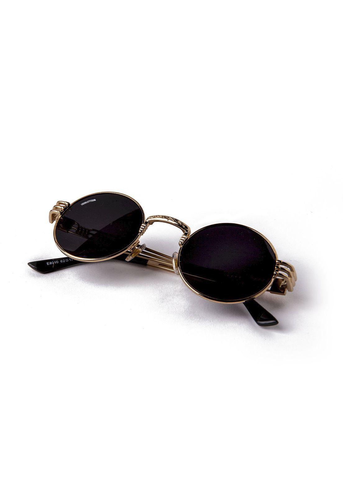 Óculos de Sol Grungetteria Creepy Dourado