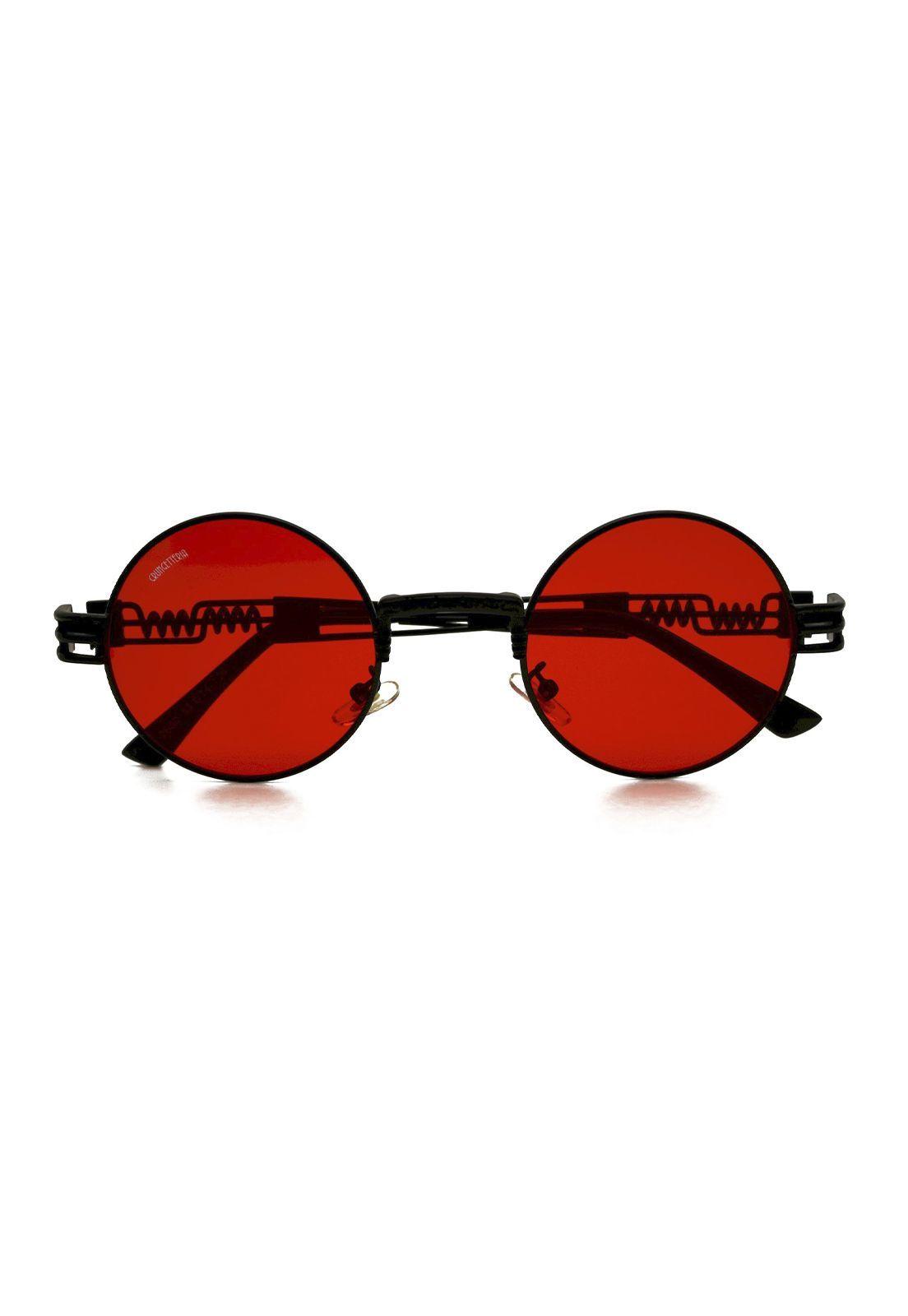 Óculos de Sol Grungetteria Creepy Vermelho