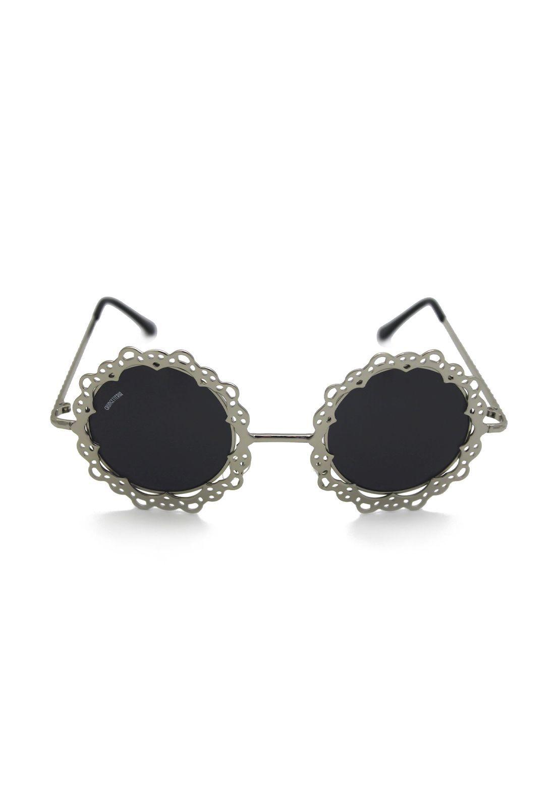 Óculos de Sol Grungetteria Flower Power Prata