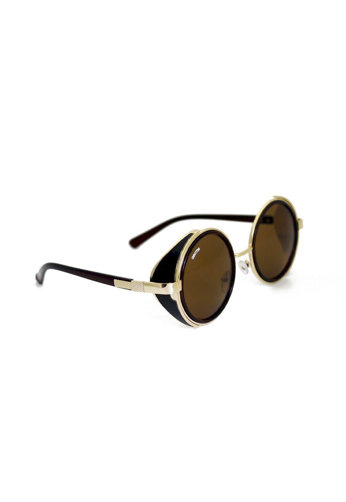 Óculos de Sol Grungetteria Funileiro Marrom & Dourado