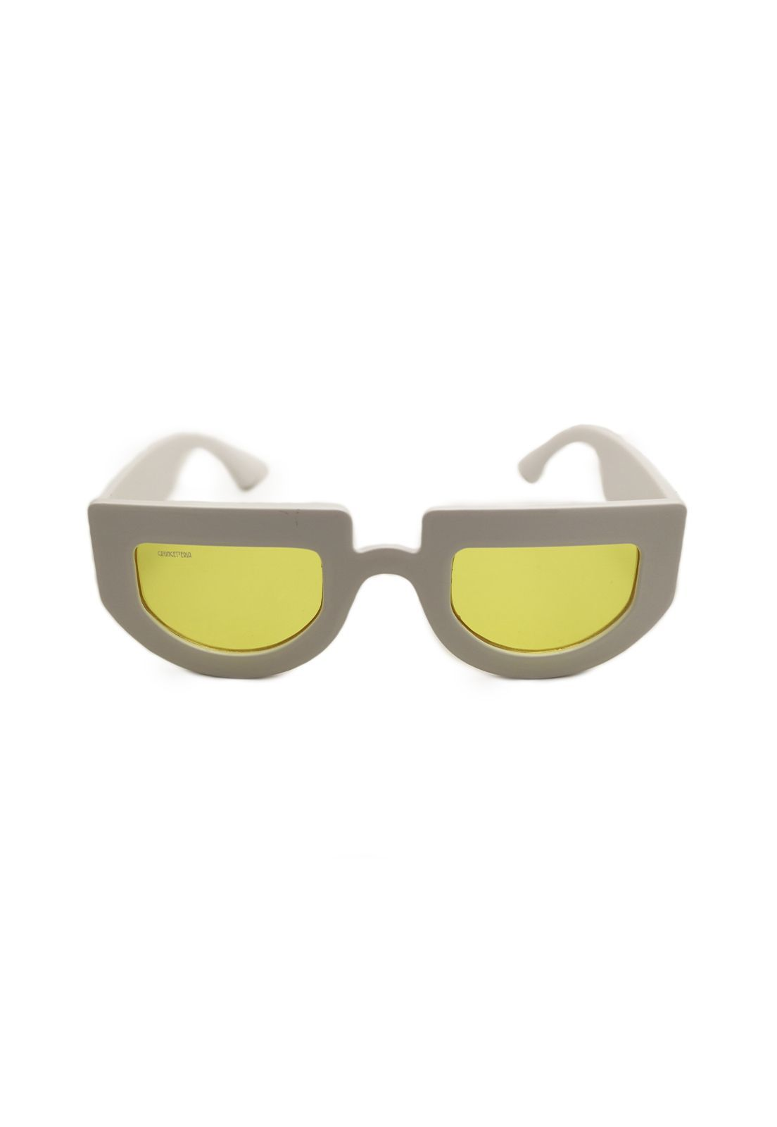 Óculos de Sol Grungetteria High Smile Branco