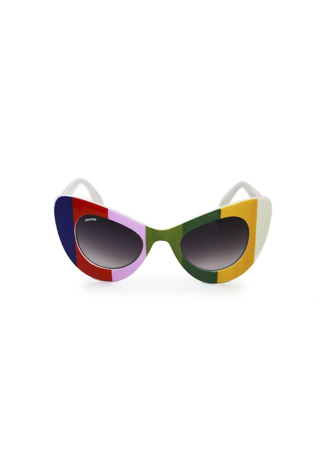 Óculos de Sol Grungetteria Lola Listrado