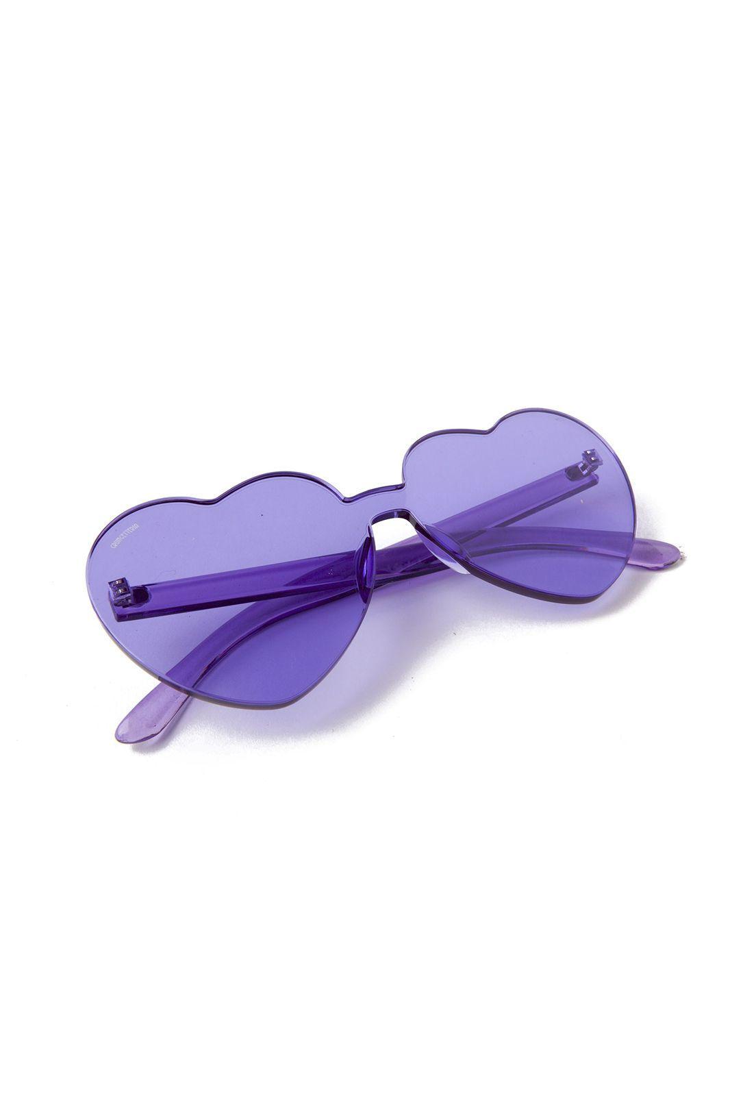 Óculos de Sol Grungetteria Love Lilás