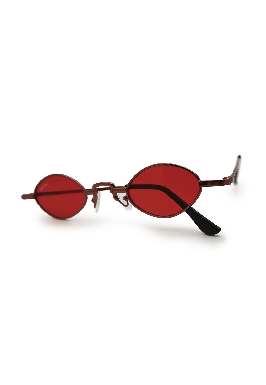 Óculos de Sol Grungetteria Osval Vermelho