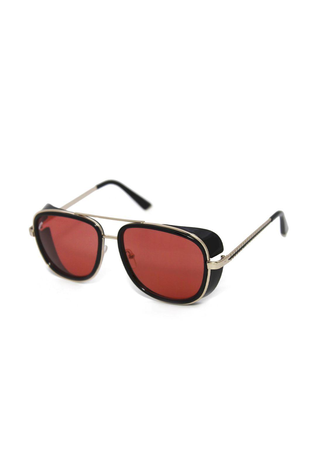 Óculos de Sol Grungetteria Pablito Vermelho