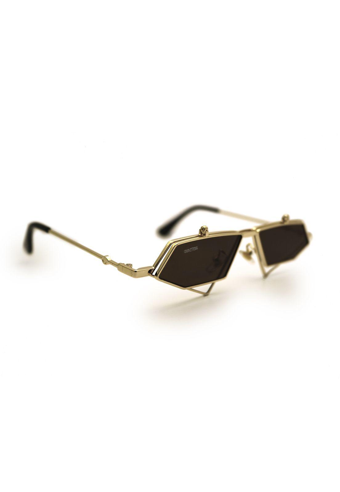 Óculos de Sol Grungetteria Prisma Dourado
