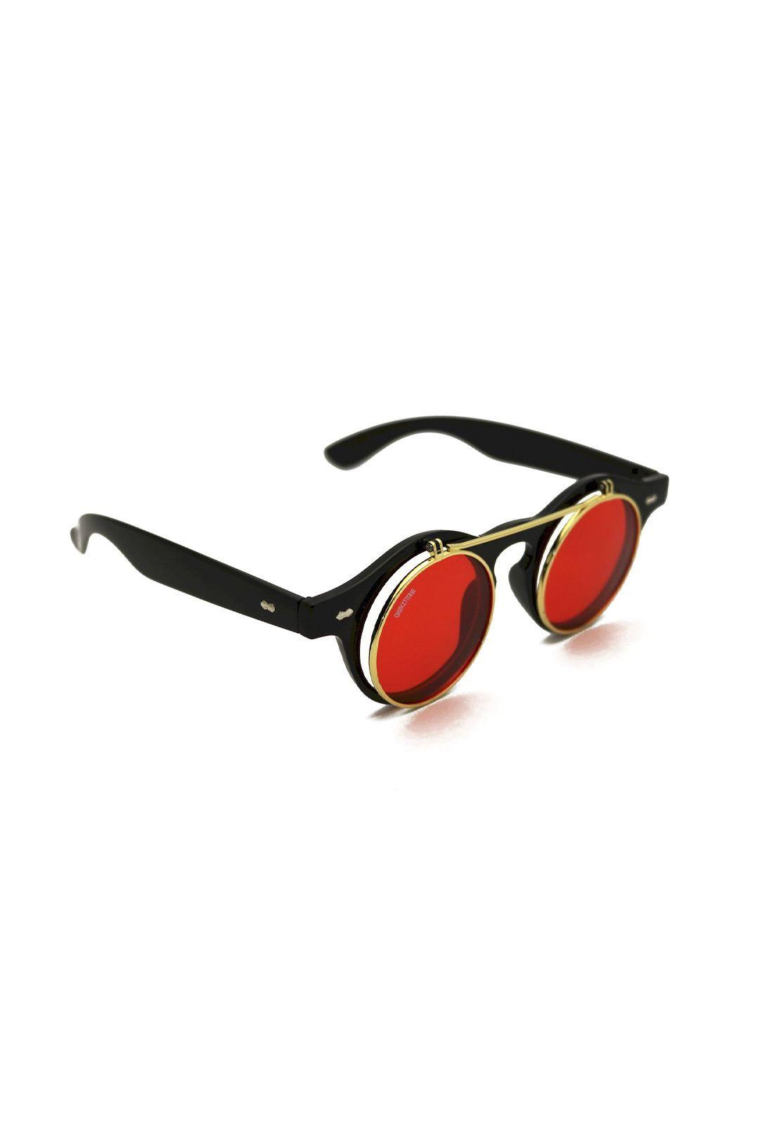 Óculos de Sol Grungetteria Sherlock Vermelho