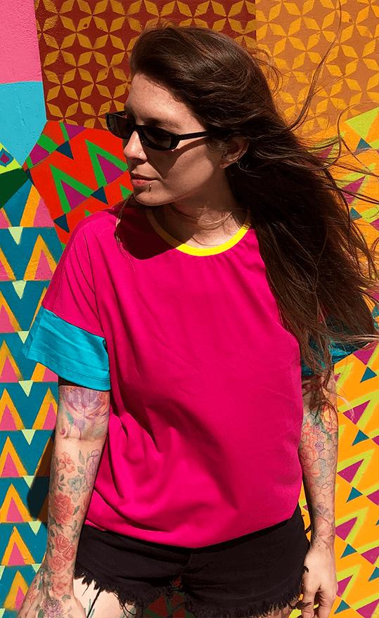 T-Shirt Colorblock 90's