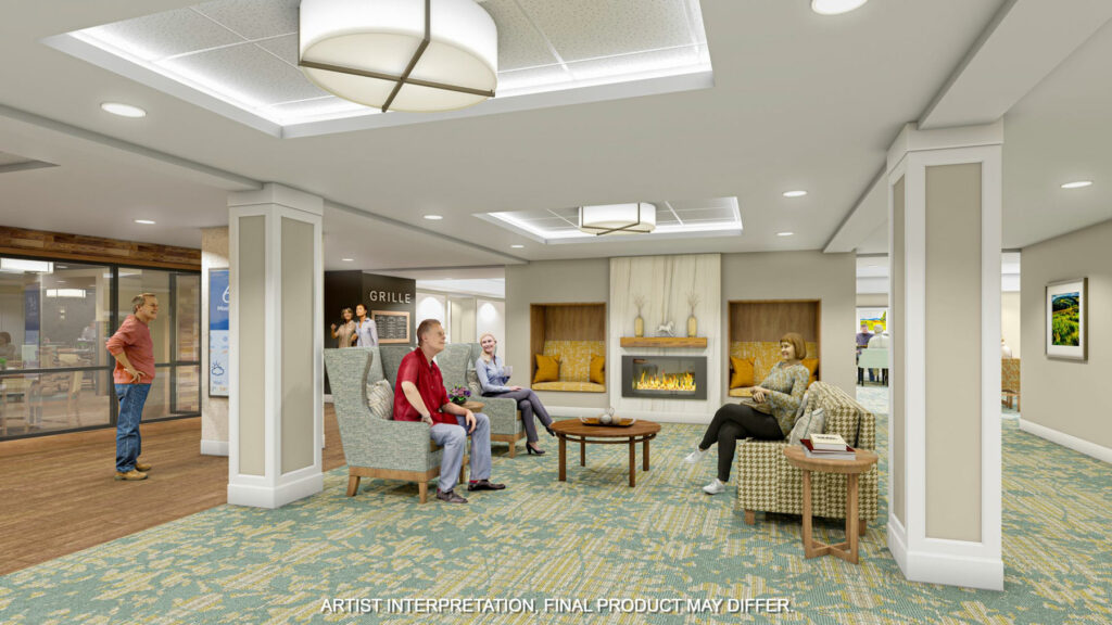 Rendering of The Lobby