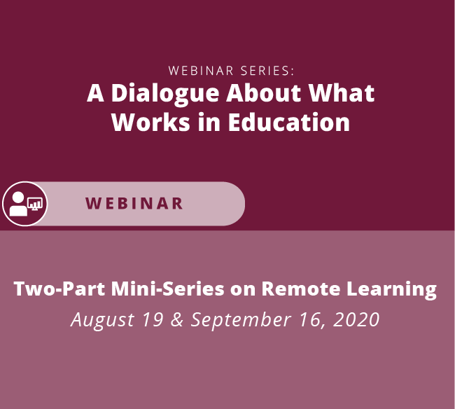 Two part mini series on remote learning august 19 and september 16 2020