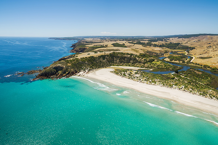 aerial view of kangaroo island
