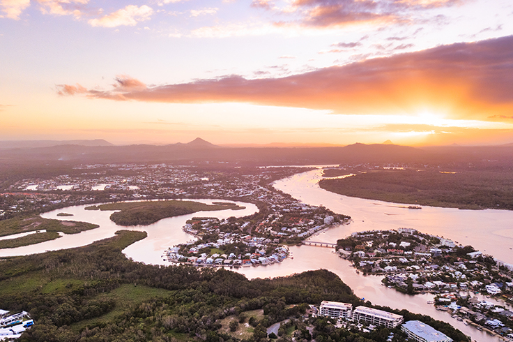 aerial view of townsville