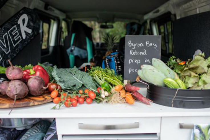 fresh fruits and vegetables from byron bay farmers market