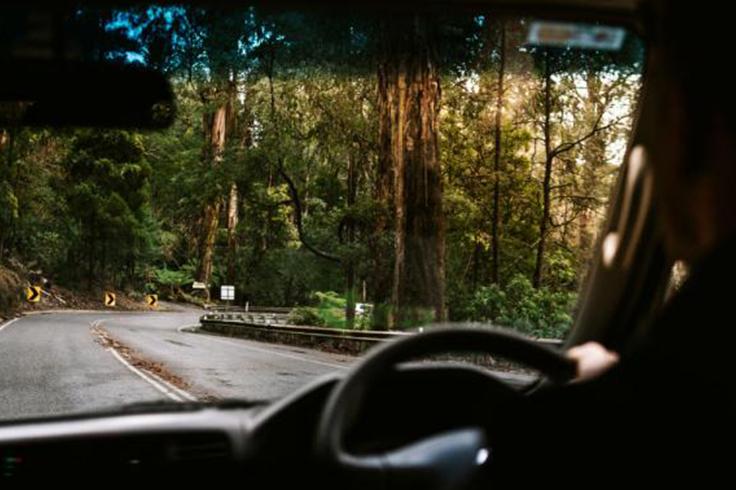 jucy campervan driving pacific coast highway