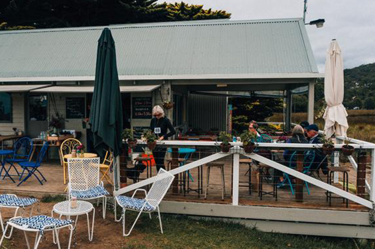 Swing Bridge Cafe at Lorne