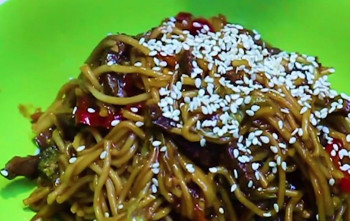 Backpacker beef noodles