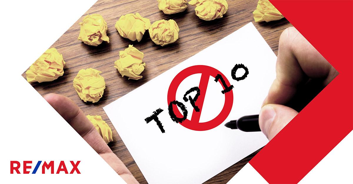 Vente : Le top 10 des erreurs commises par les propriétaires