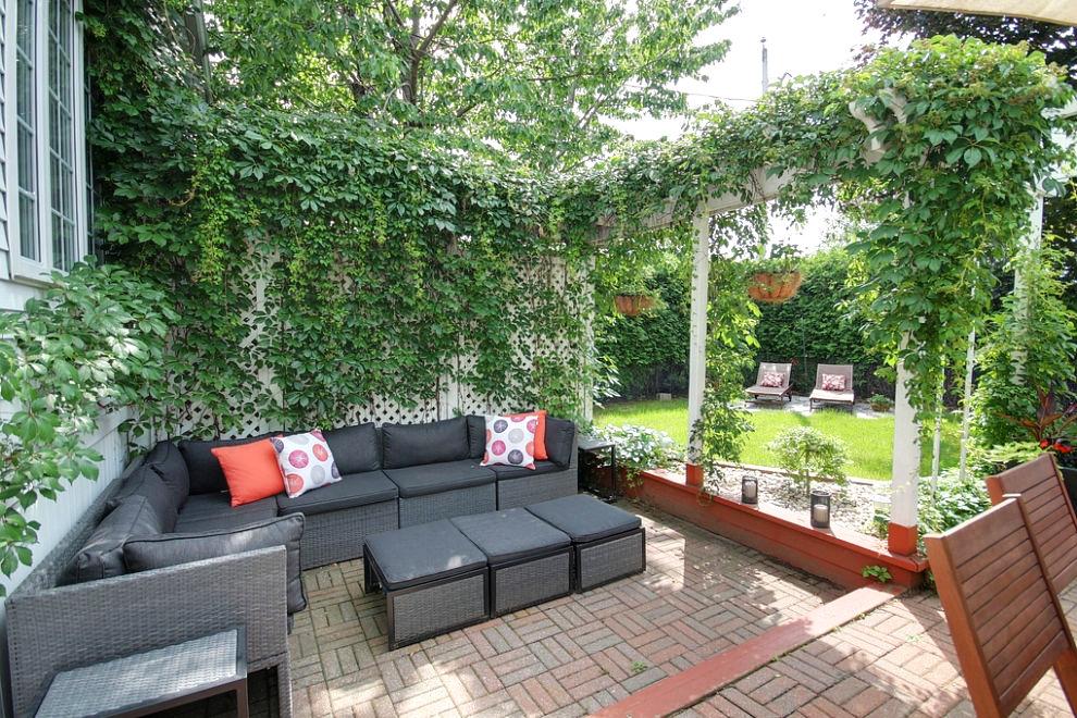Amenagement cour exterieur maison murs couvertines u2013 for Murs exterieurs terrasse