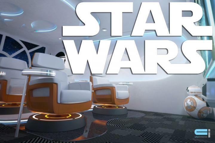 Vous ne vous contenterez plus d'une simple salle familiale lorsque vous aurez vu celle-ci à l'image de Star Wars!