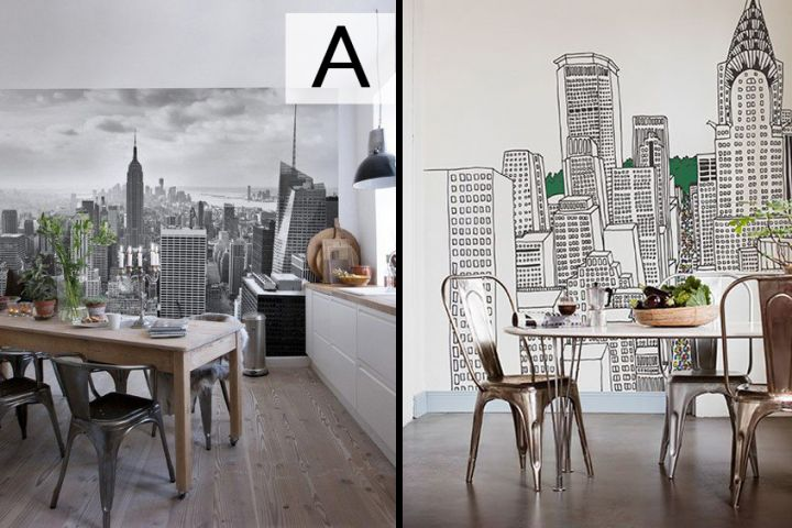 Une murale, deux styles. Lequel choisiriez-vous?