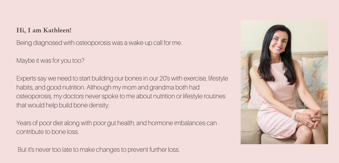 kathleen belonga, functional nutrition coach, osteoporosis, women's health, lifestyle medicine, yoga, mindfulness
