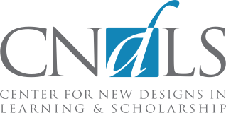 Logo for the Center for New Designs in Learning and Technology (Candles)