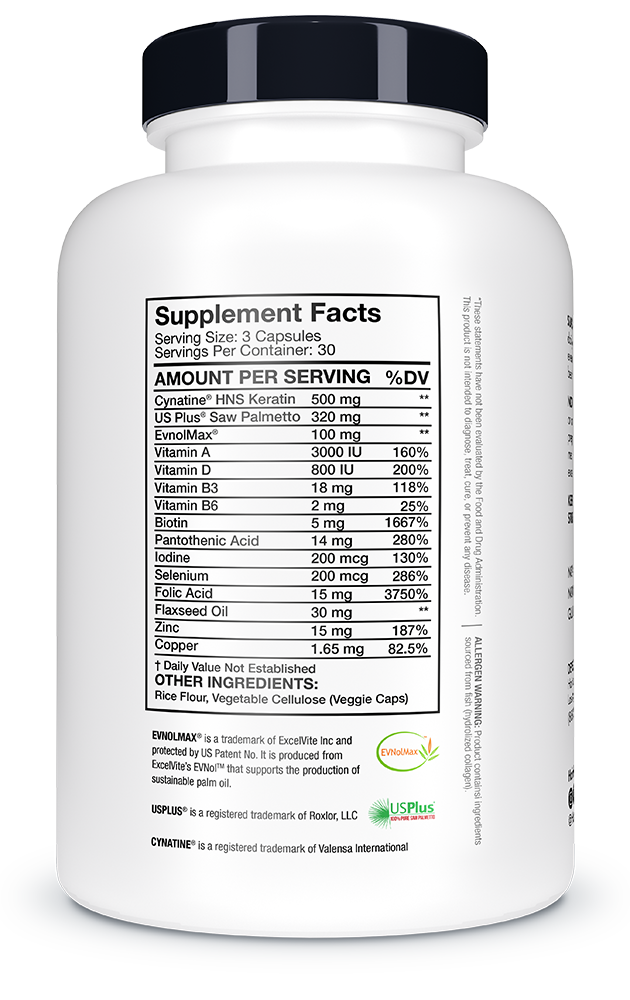 hlv supplement facts