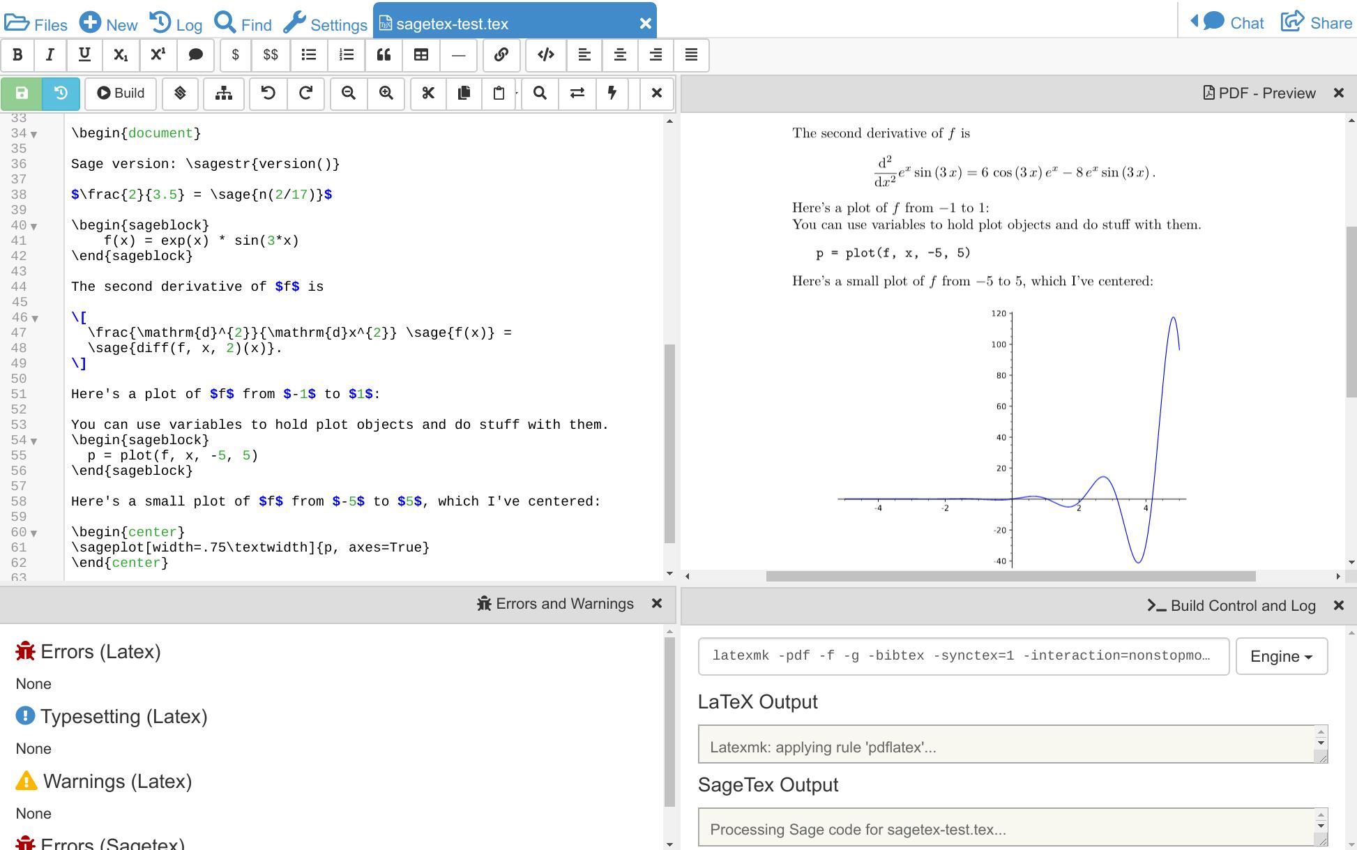 CoCalc - Online LaTeX Editor