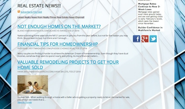 iHouse website_add fresh content