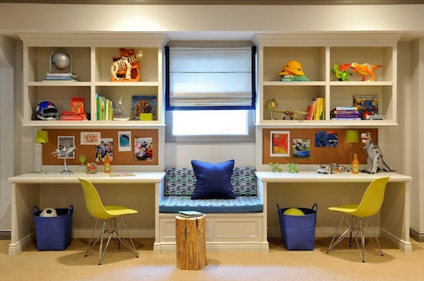 kids desk area storage