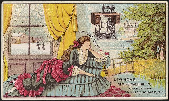 new home sewing machine ad