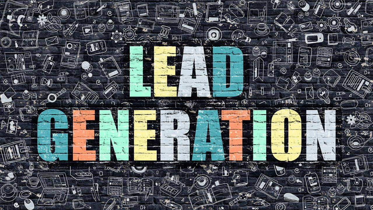 Lead Generation Concept. Lead Generation Drawn on Dark Wall. Lead Generation in Multicolor. Lead Generation Concept. Modern Illustration in Doodle Design of Lead Generation.