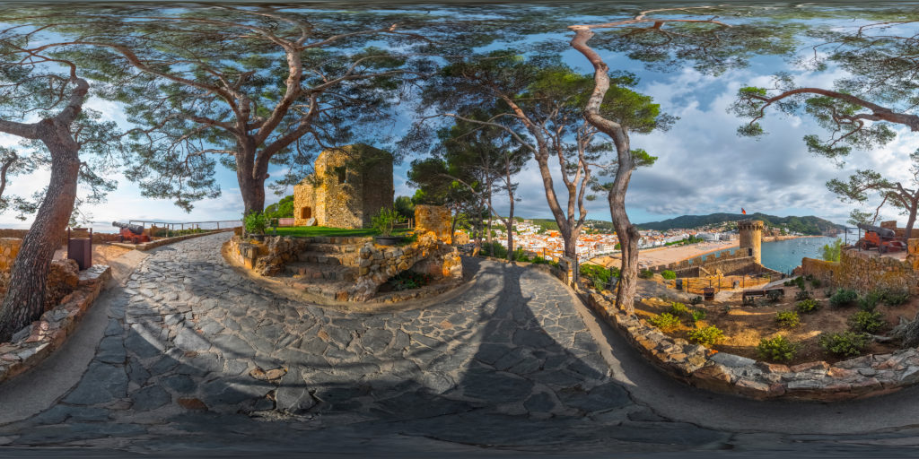 360 degree panorama stretched into a flat image