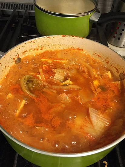 Kimchi Jjigae Step #8