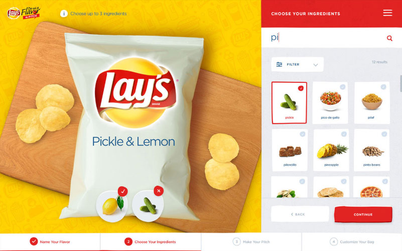 Lays Choose Ingredients